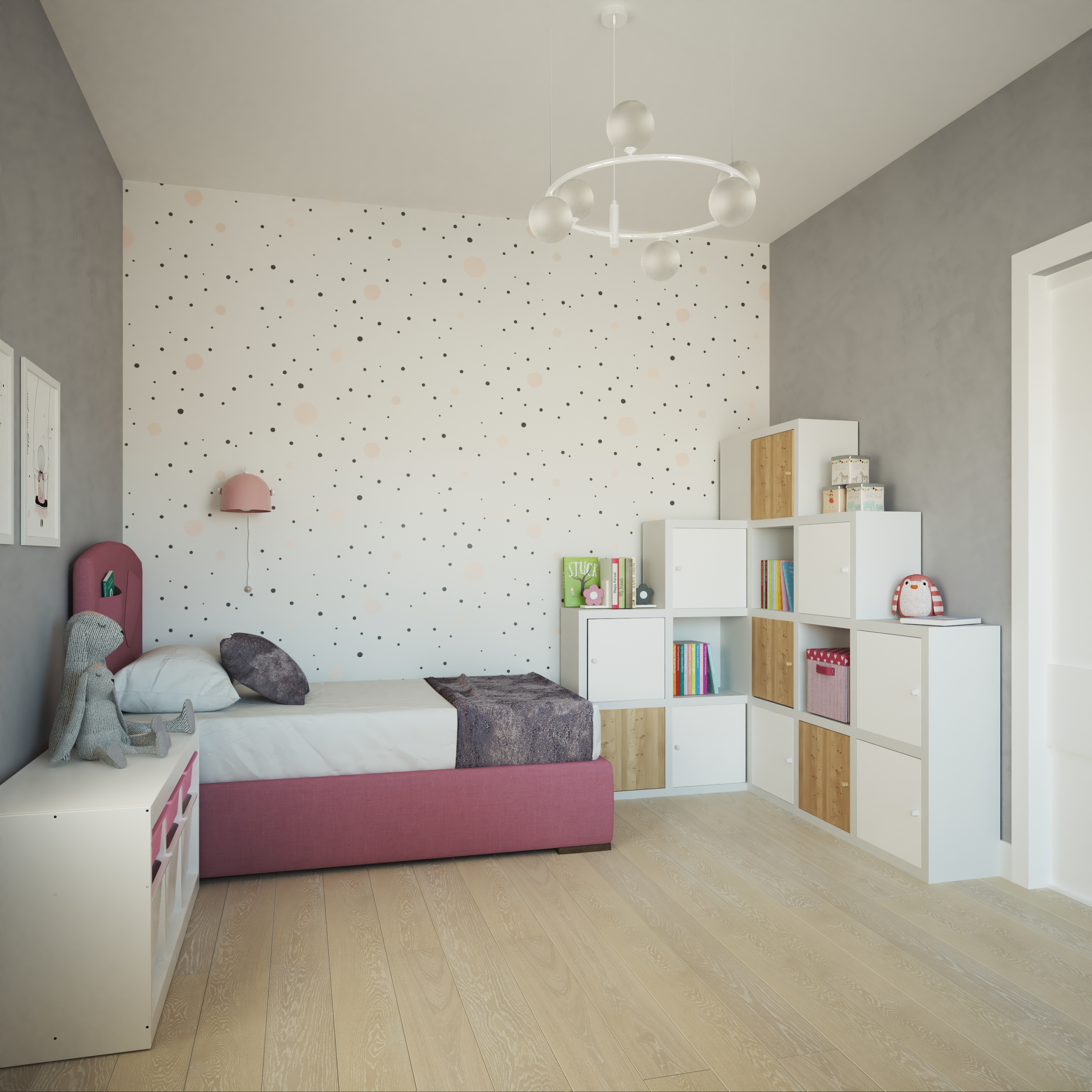 Bedroom visualization for a child